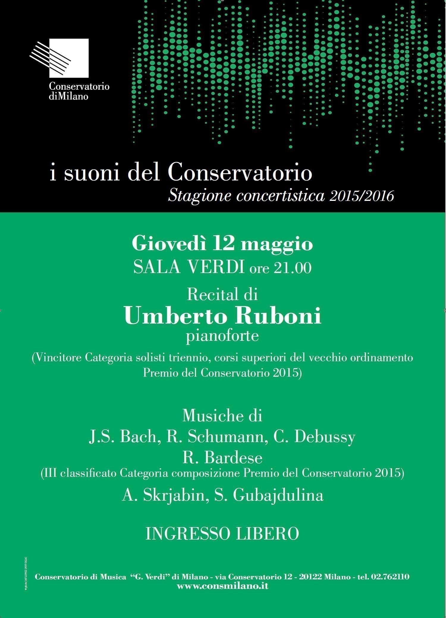 Recital pianistico di Umberto…